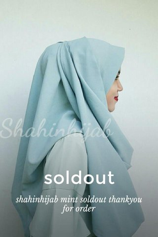 soldout shahinhijab mint soldout thankyou for order