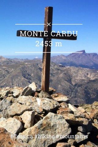 MONTE CARDU 2453 m #Corsica #hiking #mountains