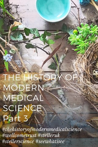 THE HISTORY OF MODERN MEDICAL SCIENCE Part 3 #thehistoryofmodernmedicalscience #wellcometrust #stelleruk #stellerscience #seewhatisee