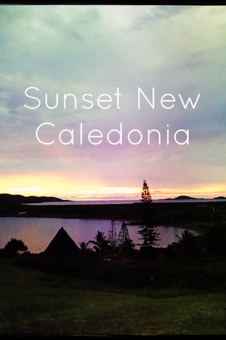 Sunset New Caledonia