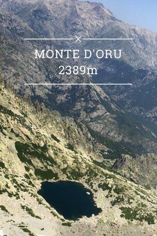 MONTE D'ORU 2389m #corsica #hiking #mountains
