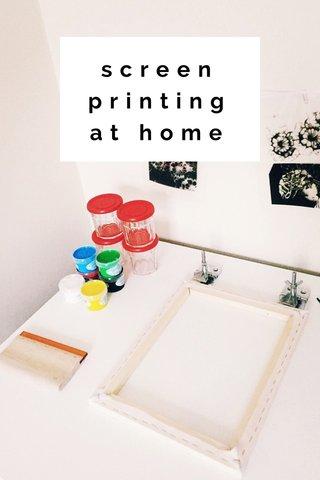 screen printingat home