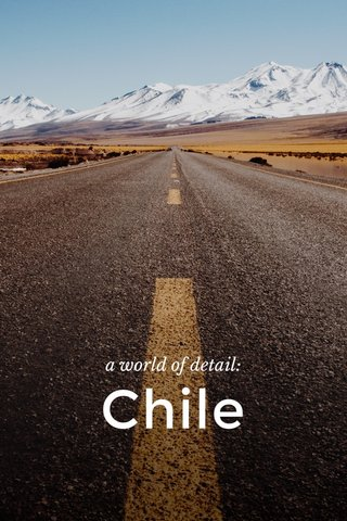 Chile a world of detail: