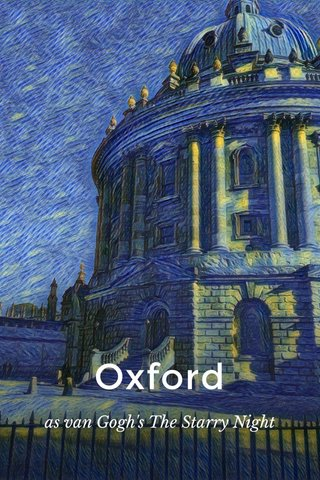 Oxford as van Gogh's The Starry Night