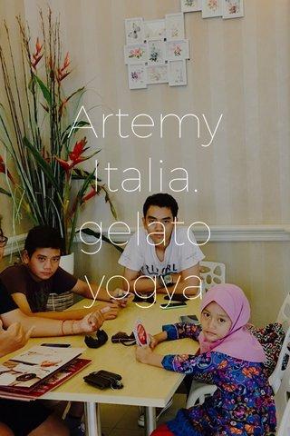 Artemy Italia. gelato yogya