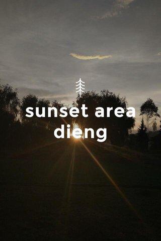 sunset area dieng