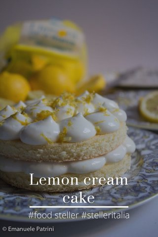 Lemon cream cake #food steller #stelleritalia