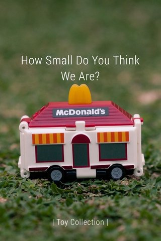 How Small Do You Think We Are? | Toy Collection |
