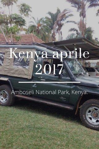 Kenya aprile 2017 Amboseli National Park, Kenya.