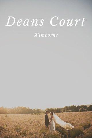 Deans Court Wimborne
