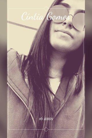 Cíntia Gomes 16 anos