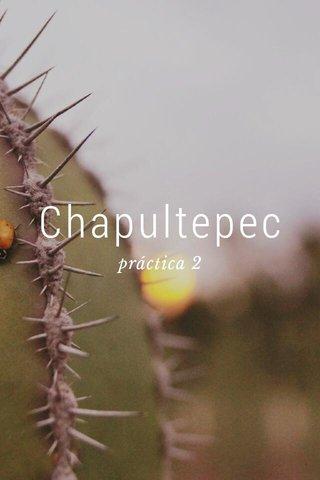 Chapultepec práctica 2