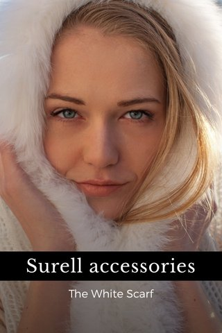 Surell accessories The White Scarf