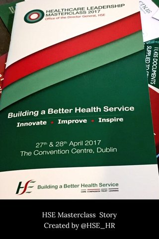 HSE Masterclass Story Created by @HSE_HR