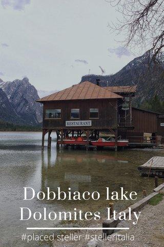Dobbiaco lake Dolomites Italy #placed steller #stelleritalia