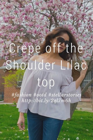 Crepe off the Shoulder Lilac top #fashion #ootd #stellarstories http://bit.ly/2ql7m6h