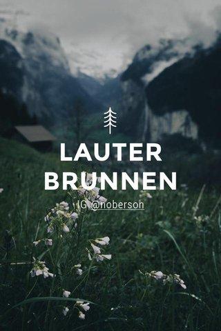 LAUTERBRUNNEN IG @noberson