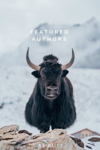 FEATURED AUTHORS 05.01.17