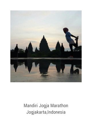 Mandiri Jogja Marathon Jogjakarta,Indonesia