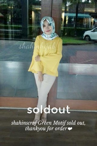 soldout shahinscraf Green Motif sold out, thankyou for order❤