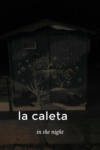 la caleta in the night