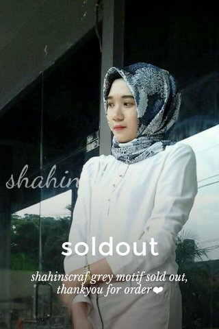soldout shahinscraf grey motif sold out, thankyou for order❤