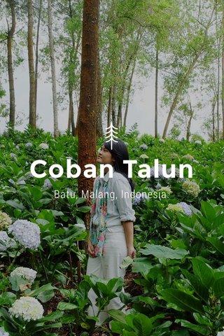 Coban Talun Batu, Malang, Indonesia.