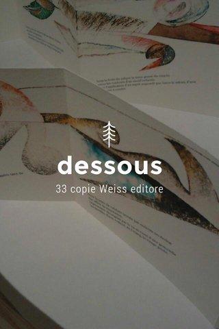 dessous 33 copie Weiss editore