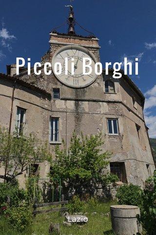 Piccoli Borghi Lazio