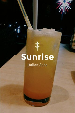 Sunrise Italian Soda