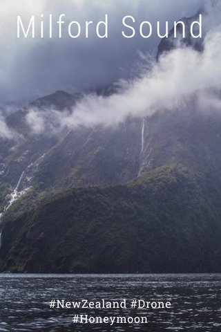 Milford Sound #NewZealand #Drone #Honeymoon