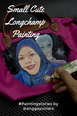 Small Cute Longchamp Painting #Paintingstories by @anggayuniars