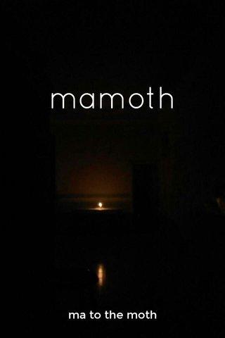 mamoth ma to the moth