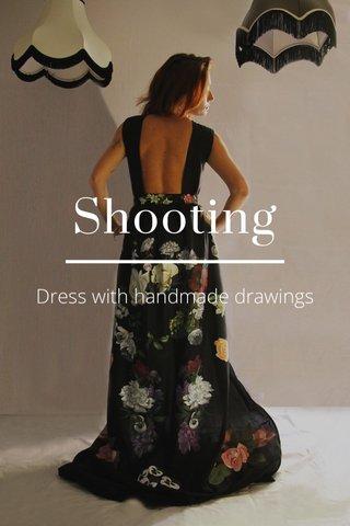 Shooting Dress with handmade drawings