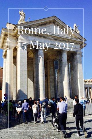 Rome, Italy 15 May 2017