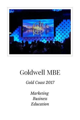 Goldwell MBE