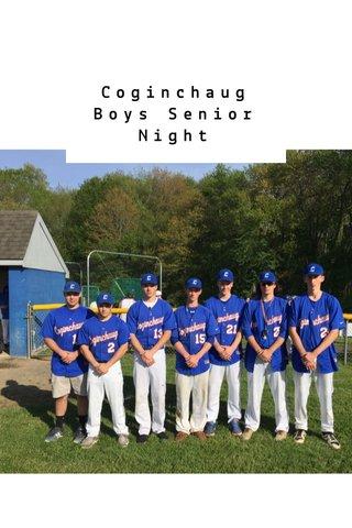 Coginchaug Boys Senior Night