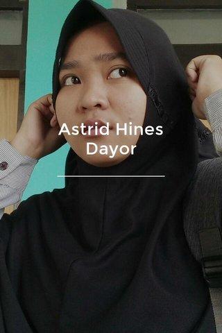 Astrid Hines Dayor
