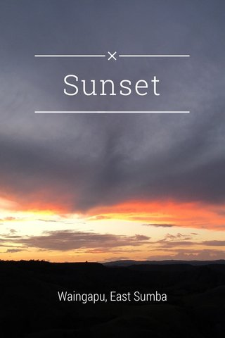 Sunset Waingapu, East Sumba
