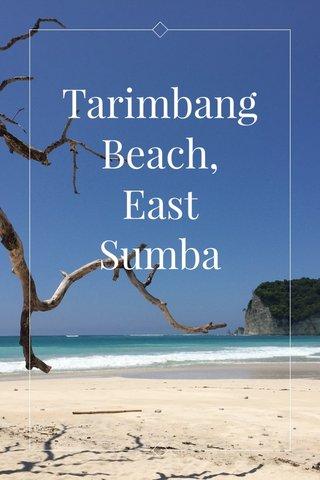 Tarimbang Beach, East Sumba