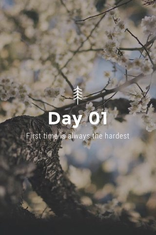 Day 01 First time is always the hardest