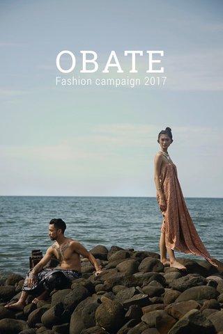 OBATE Fashion campaign 2017