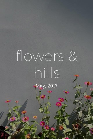 flowers & hills May, 2017