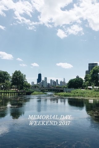 MEMORIAL DAY WEEKEND 2017