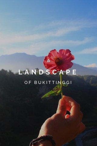 LANDSCAPE OF BUKITTINGGI