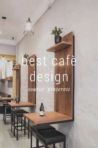 best cafè design source: pinterest