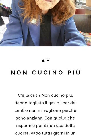 NON CUCINO PIÙ