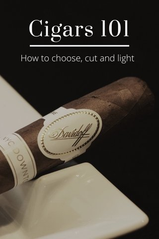 Cigars 101 How to choose, cut and light