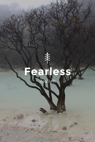 Fearless Really?!