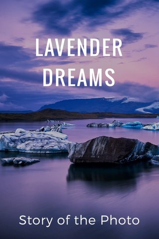 LAVENDER DREAMS Story of the Photo